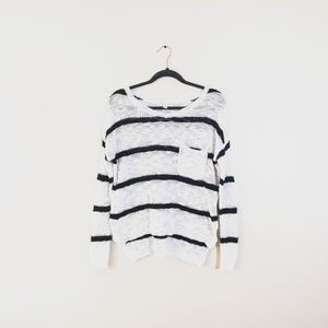 LOVESTITCH Striped Sweater with Pocket
